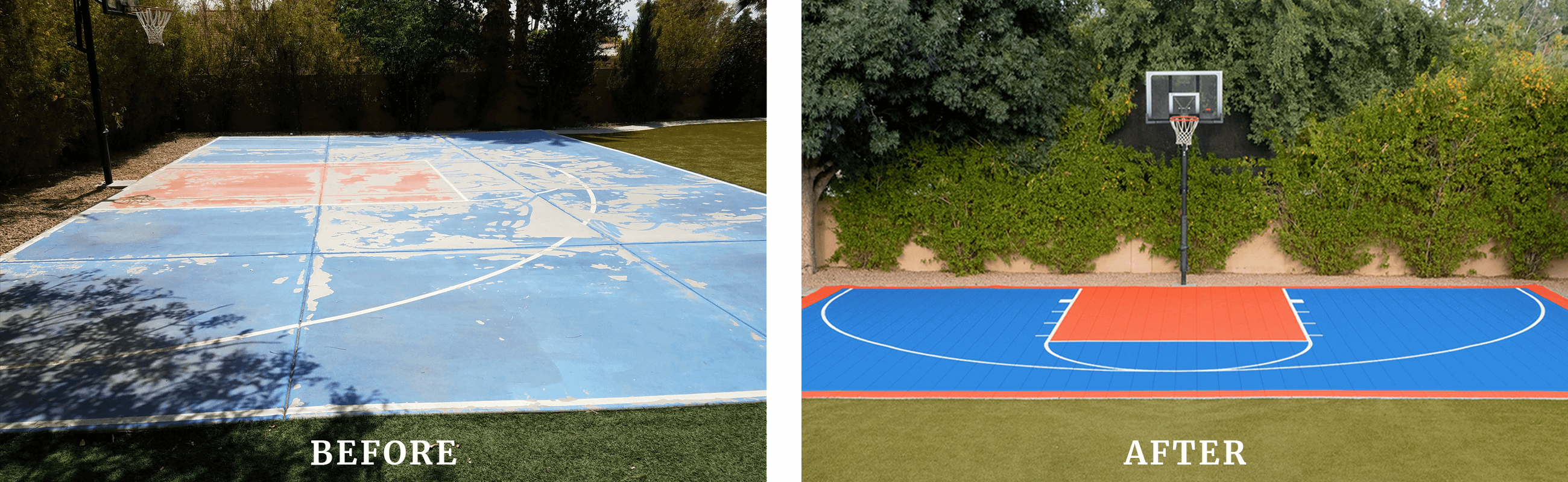 Before and After Sport Court Design