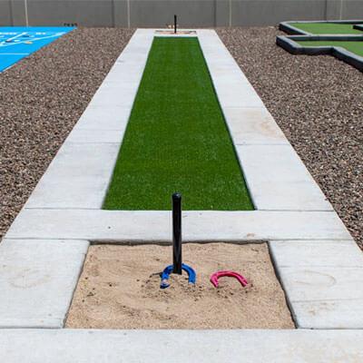 Horseshoe and Bowling Landscape Design Phoenix